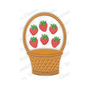 Impression Obsession DIE397-L - Strawberry Basket