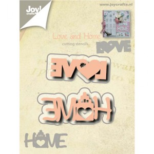 Joy crafts 6002/0527 - Love and Home
