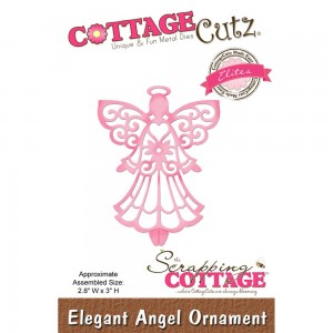 Cottage Cutz CCE440 - Elegant Angel Ornament