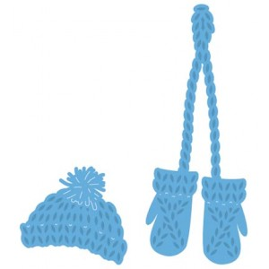 Marianne Design LR0440 - Knitted Hat and Mittens