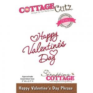 Cottage Cutz CCE468 - Happy Valentine's Day Phrase