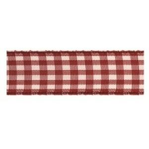 Текстилна панделка - VICHY - 15 - 619