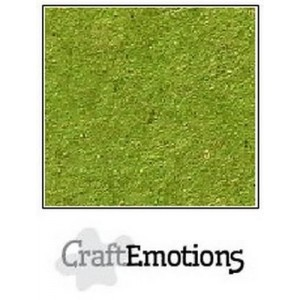CraftEmotions 001232/0732 A4 Craft Paper - Emerald Green