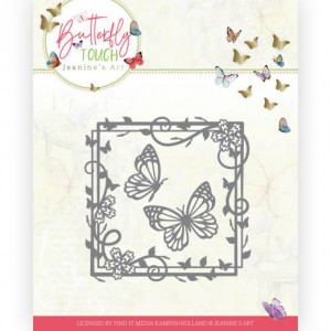 Jeanines Art JAD10122 Butterfly Touch - Butterfly Square