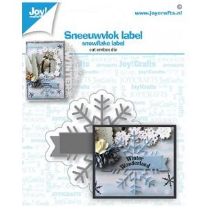 Joy crafts 6002/1532 - Snowflake Label