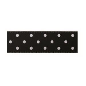 Текстилна панделка - Mini dots - 15 - 613