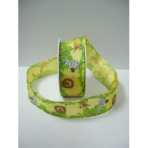 Текстилна панделка - Dschungel - 40 - 605