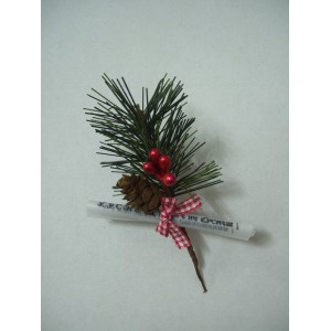 Christmas pick with cones 001