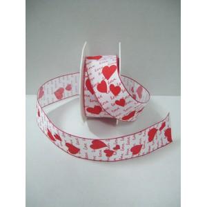 Текстилна панделка - AMORE - 40 - 609