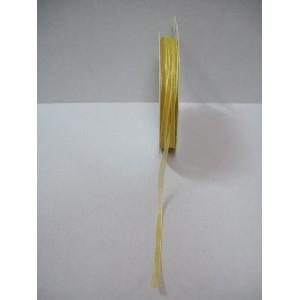 Златна панделка органза - 3мм