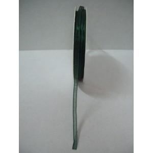 Тъмно зелена панделка органза - 3мм