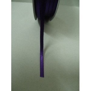 Тъмно лилава панделка сатен на метър - 3мм