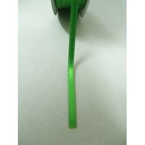 Зелена панделка сатен на метър - 3мм