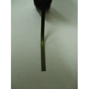 Зелена маслина панделка сатен на метър - 3мм