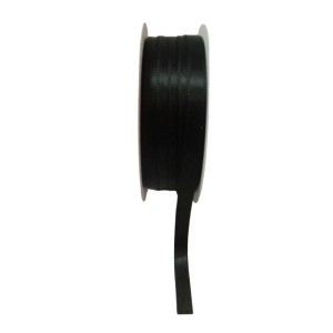 Черна панделка сатен на ролка - 7мм