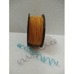 Златисто жълта сатенирана тел на ролка - 1мм