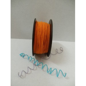 Оранжева сатенирана тел на ролка - 1мм