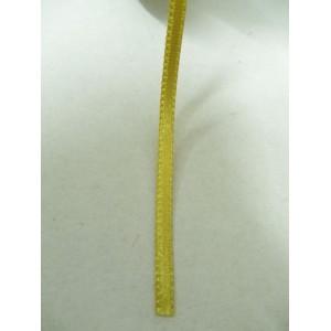 Златисто жълта панделка сатен на метър - 3мм