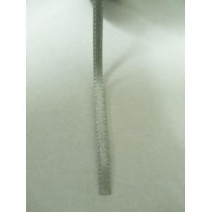 Сребърно сива панделка сатен на метър - 3мм