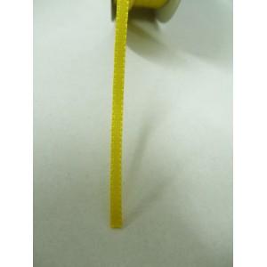 Жълта панделка сатен на метър - 3мм