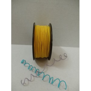Жълта сатенирана тел на метър - 1мм