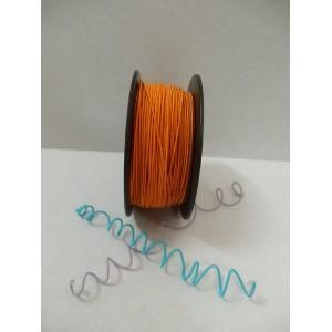 Оранжева сатенирана тел на метър - 1мм