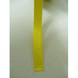 Жълта панделка сатен на метър - 7мм