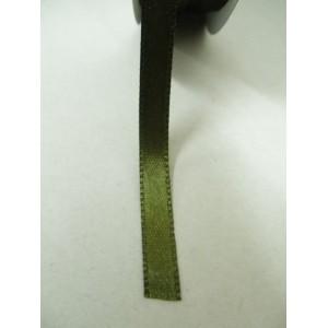 Зелена маслина панделка сатен на метър - 7мм