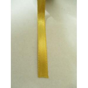 Златисто жълта панделка сатен на метър - 7мм