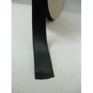 Черна панделка сатен на метър - 10мм