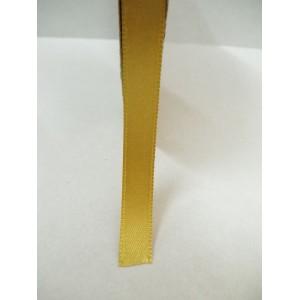 Златисто жълта панделка сатен на метър - 10мм
