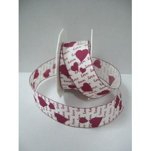 Текстилна панделка - AMORE - 40 - 619