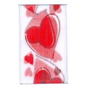 Текстилна панделка - Sweet heart  - 40 - 001