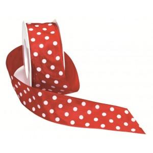 Текстилна панделка - Polka Dots - 40 - 609