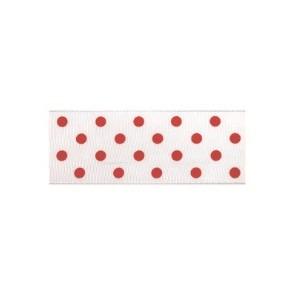 Текстилна панделка - Polka Dots - 40 - 709