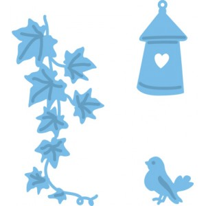Marianne Design LR0206 - Бръшлян, къщичка и птиче