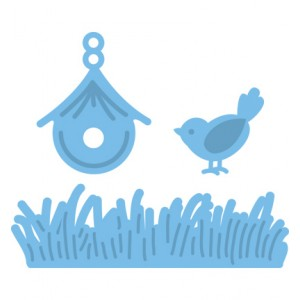Marianne Design LR0204 - Трева, къщичка и птиче