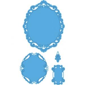 Marianne Design LR0240 - Овална рамка с орнаменти