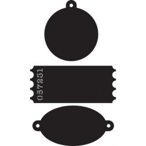 Marianne Design CR1212 - Мини тагове в три различни форми