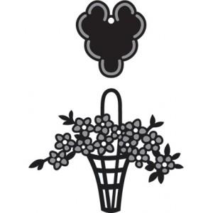 Marianne Design CR1209 - Кошничка с цветя и сърце