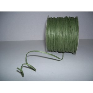 Raffia - With wire - GREEN
