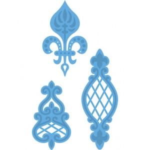 Marianne Design LR0273 - Трите винтидж орнамента на Аня