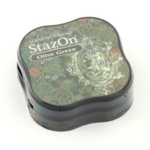 StazOn SZ-MID-51- Малки мастила - Olive Green