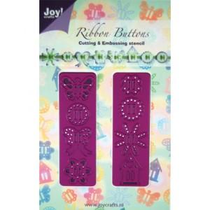 Joy crafts 6002/0131 - Две ленти със свежарски мотиви и отвори за панделка