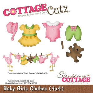 Cottage Cutz CC496 - Baby Girl Clothes (4x4)