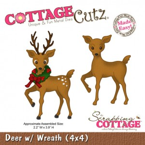 Cottage Cutz CC283 - Deer With Wreath (4x4)