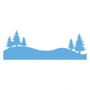 Marianne Design LR0283 - Борови дръвчета на хоризонта