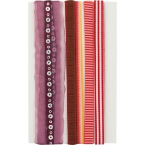Комплект дизайнерски текстилни панделки - Rood Assorti