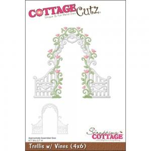 Cottage Cutz CC075 - Trellis With Vines (4x6)