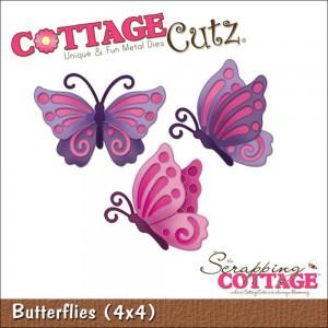 Cottage Cutz CC154 - Butterflies (4x4)
